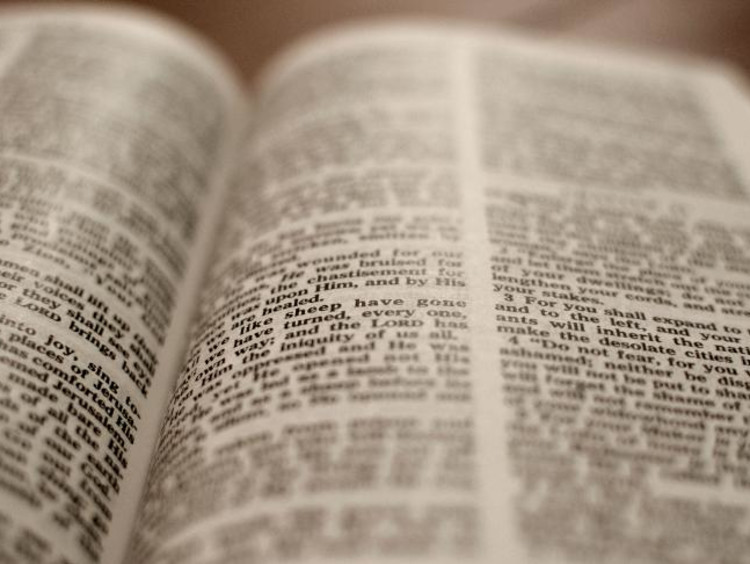 bible open to two pages