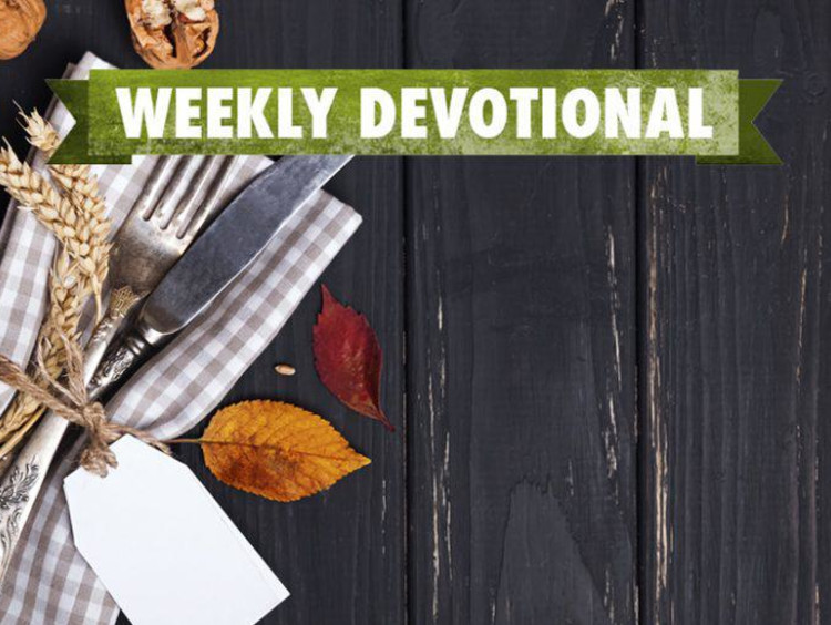 Weekly Devotional: Picnic table background