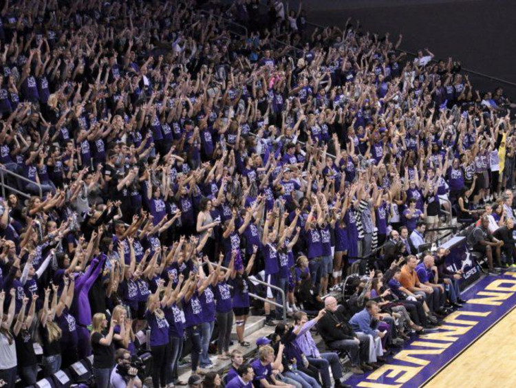 GCU band section at a basketball game
