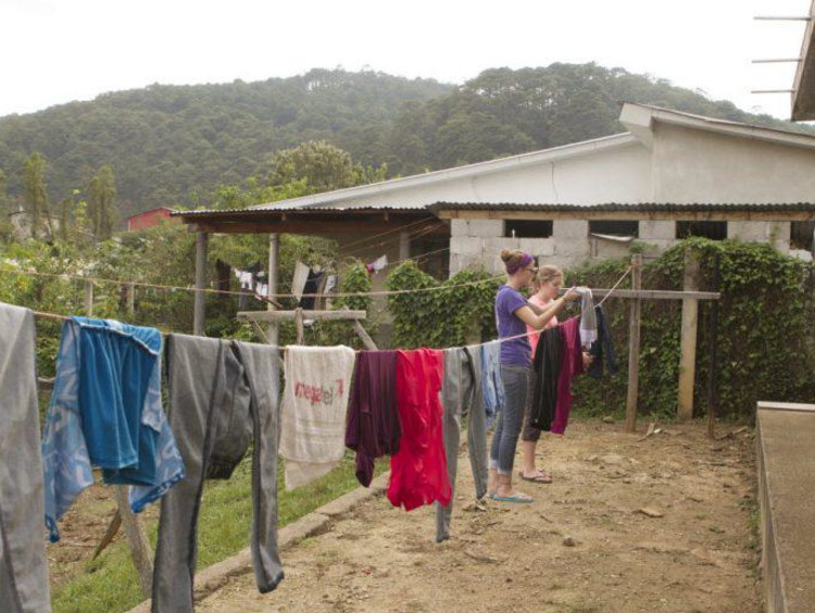 Clothes on a drying line