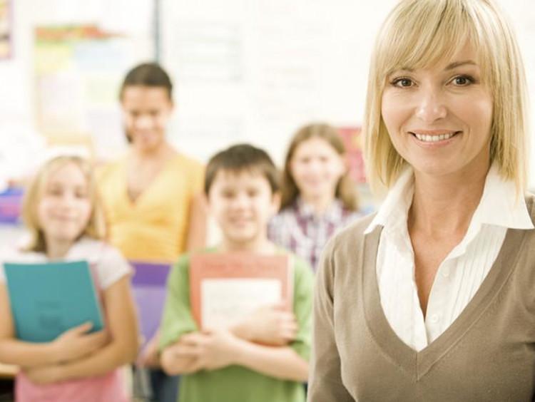 substitute teacher in a classroom
