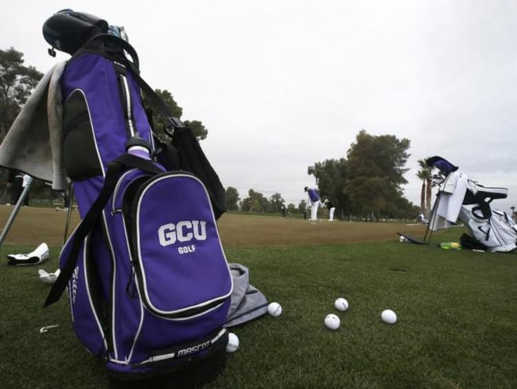 golf bag on the GCU golf course