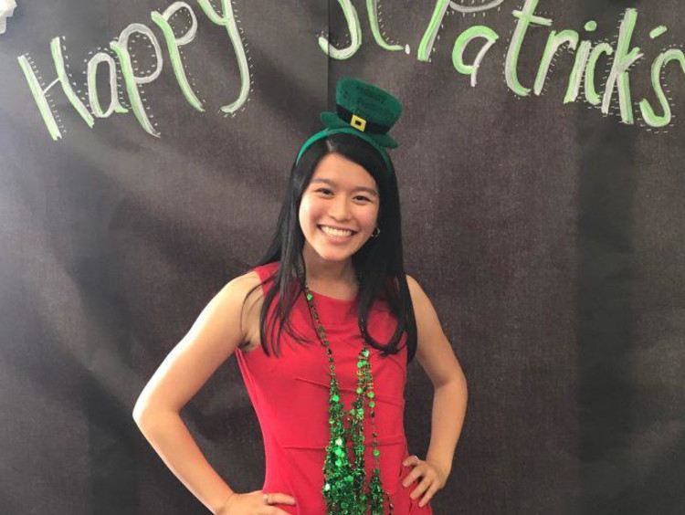 Honors Student Spotlight Selena Nguyen on St Patricks Day