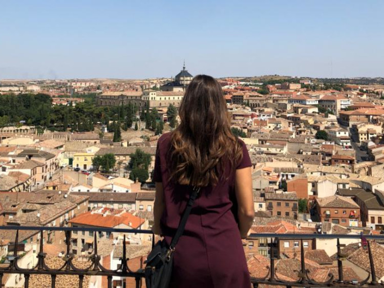 girl looking at view of Spain