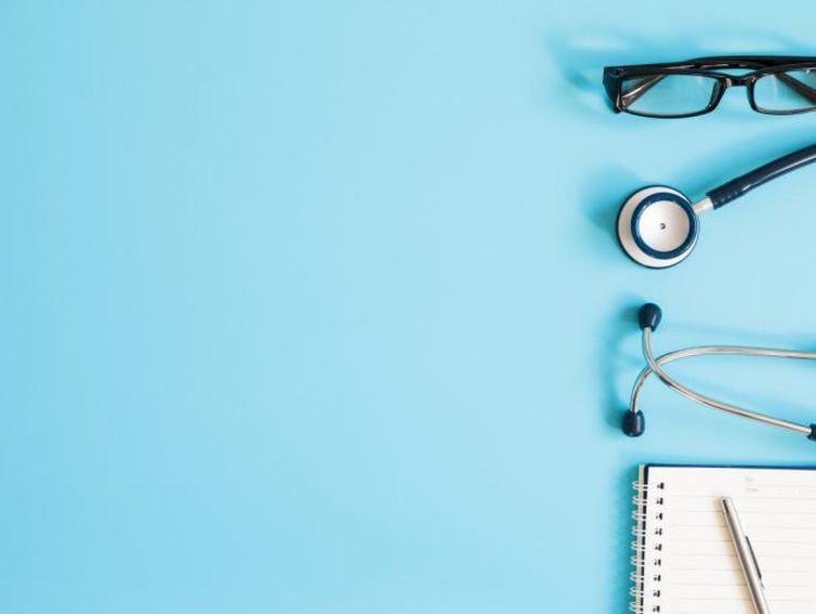Nurse tools on backdrop