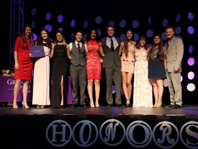 GCU Honors students on stage