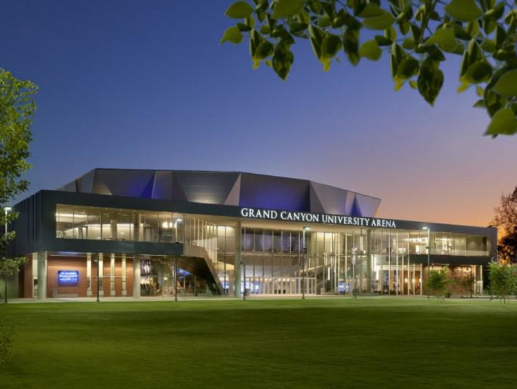 GCU Arena at dusk