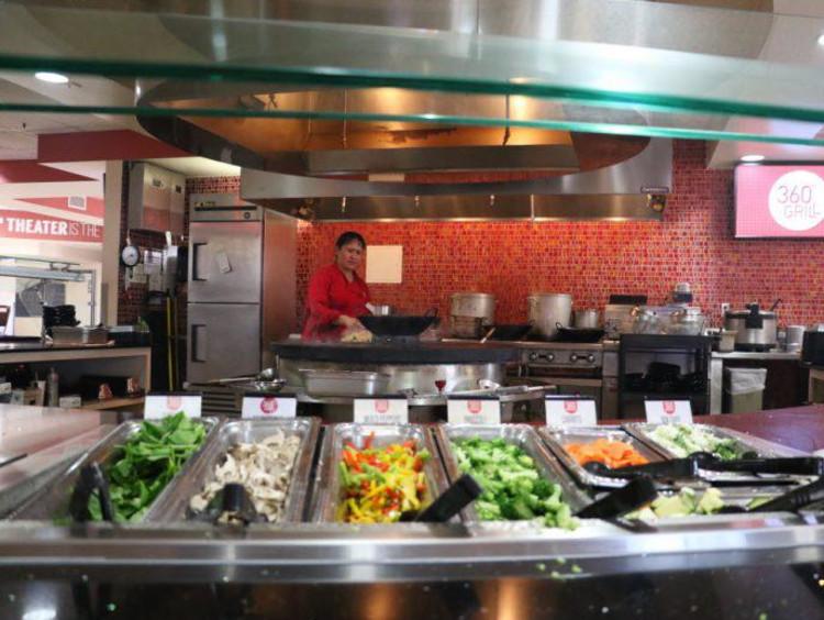 veggies in a buffet