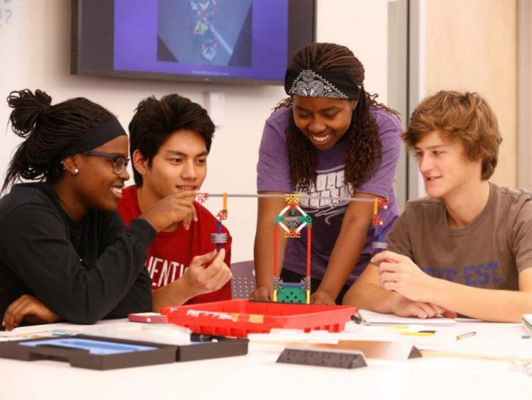 STEM students working
