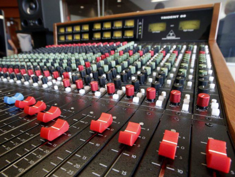 Soundboard in recording studio
