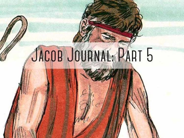 """sheapard with """"jacob journal part 5"""" written on it"""