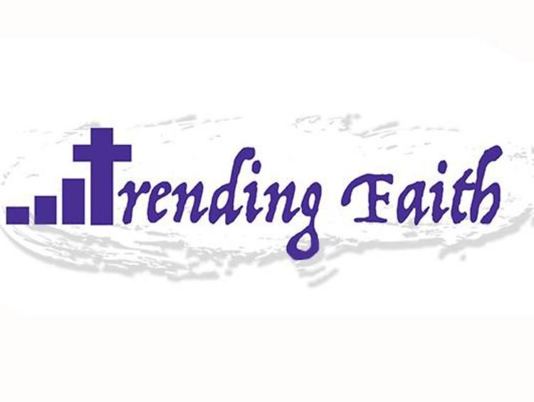 """""""trending faith"""" with a cross"""