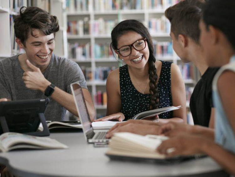 young adults in a study group