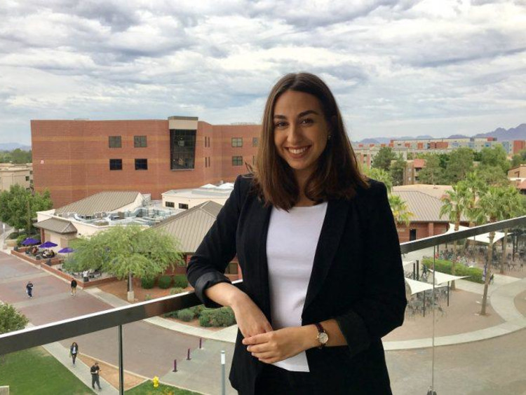 Larsa Rasho on GCU's campus