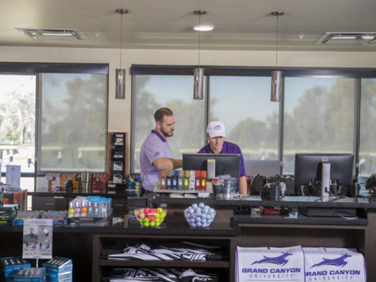 gcu golf management degree students