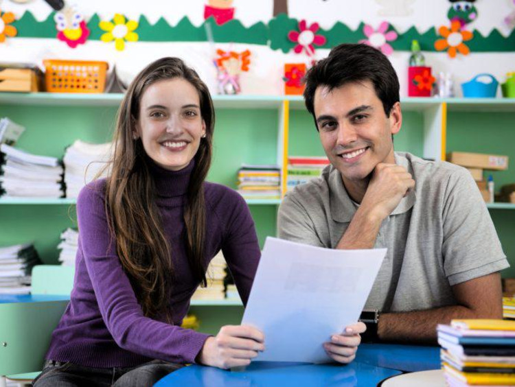 parents of a student in a classroom