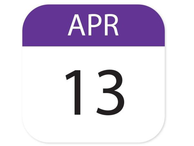 April 13 calendar