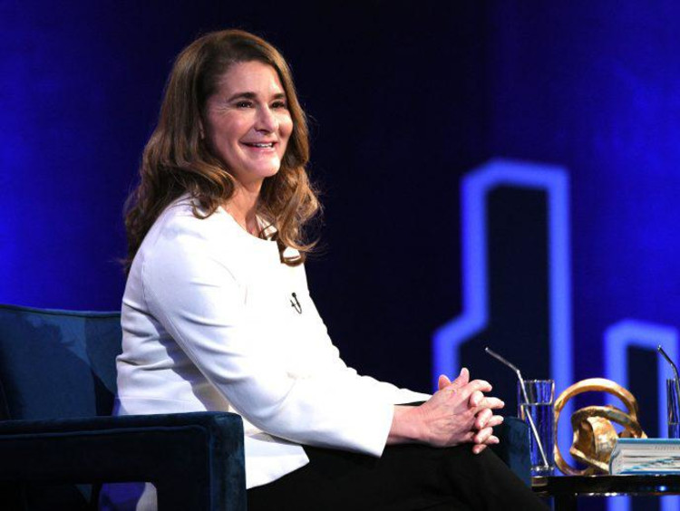 picture of melinda gates speaking on stage