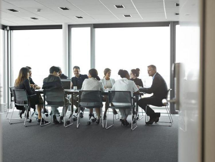 Board room meeting