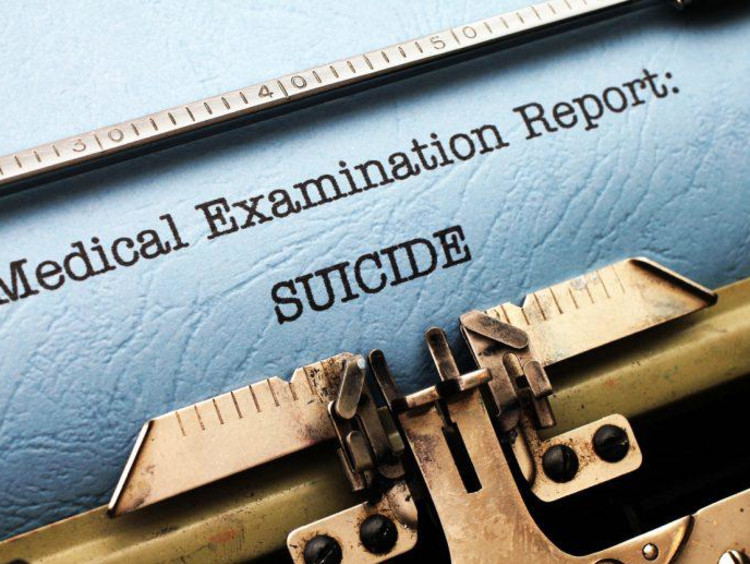 suicide examination report