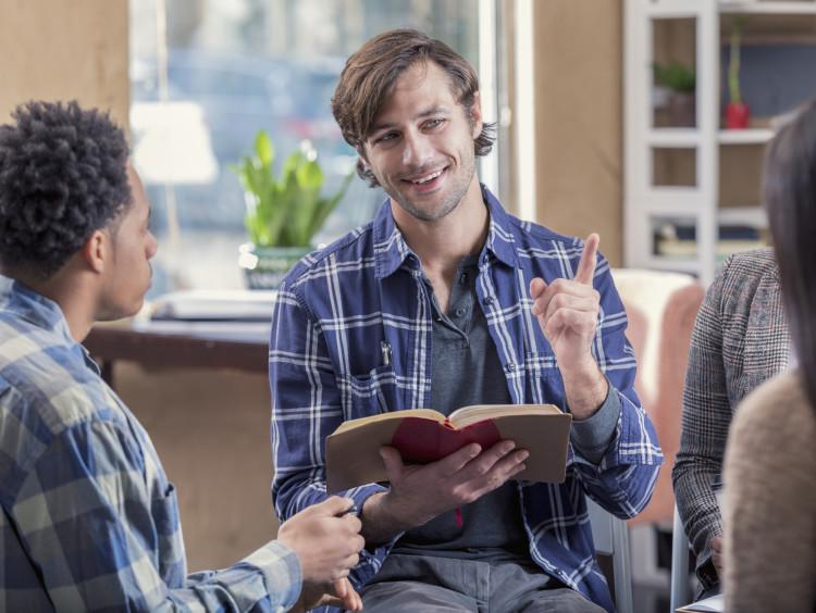 Man conducting Bible study
