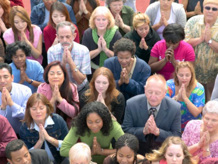 God's family praying to God