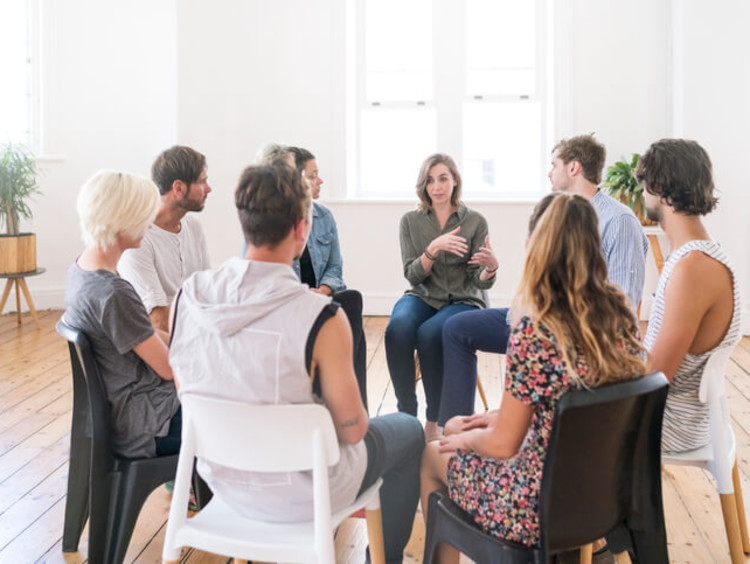 addiction group counseling session