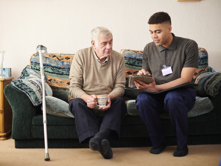 A Social Worker in Elderly Care