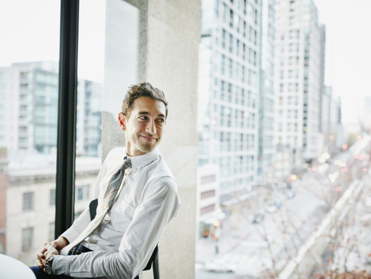 Businessman focusing on what matters in business