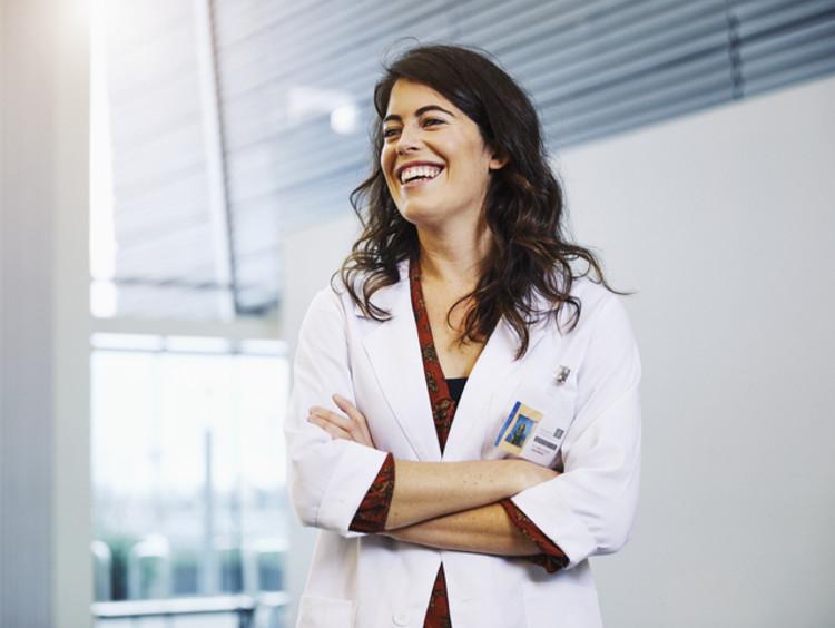female psychology graduate working in medical field