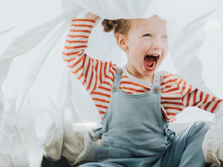 Toddler celebrates being made new in Jesus