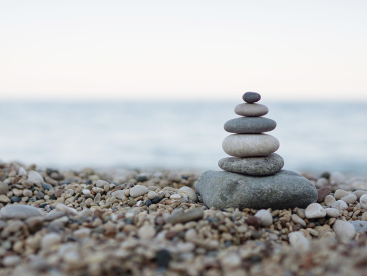 A group of rocks stacked high