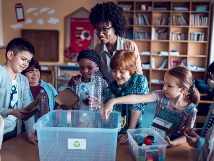 early childhood educator teaching students