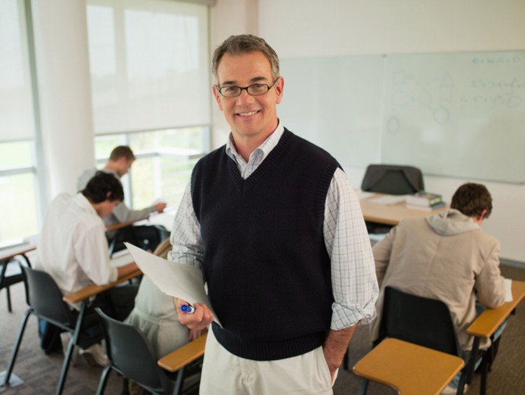 male teacher pursuing a meaningful career in education