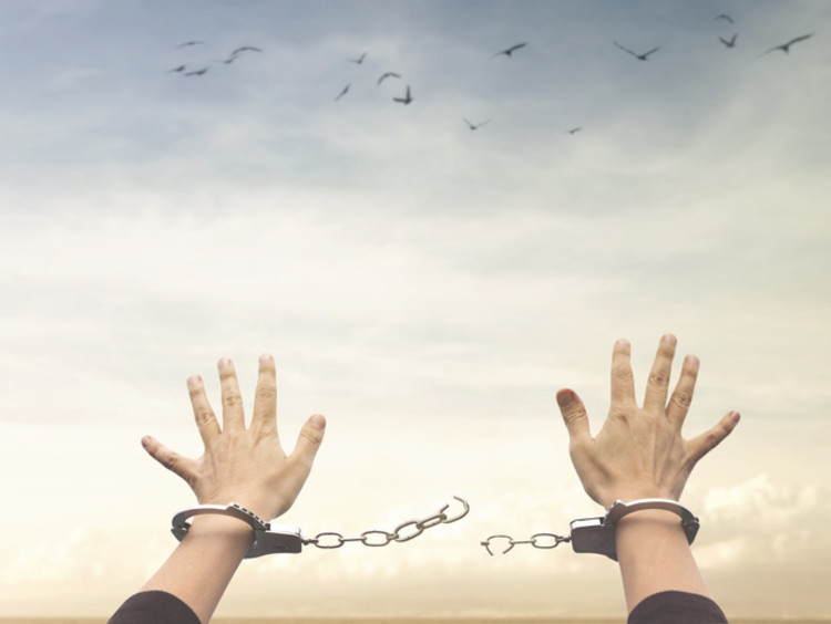 Man breaks the chains of sin