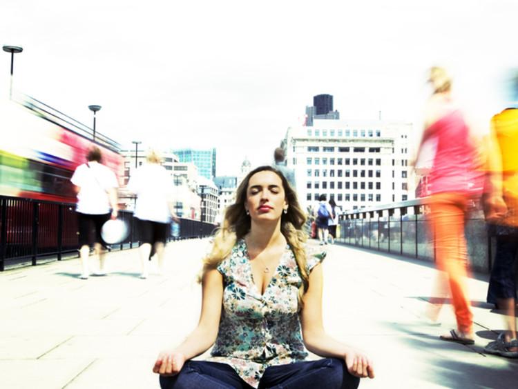 woman sitting still