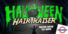 Halloween hair raiser slider