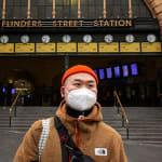 mask melbourne flinders st station 600x400