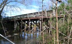 Timber Bridge, Old Galveston Rd over Mustang Bayou, Alvin, Texas 1212201034