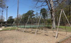 Large swing set, City Park (Griffin).JPG