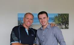 Cr Jason OPray with Lachlan Smart 1