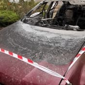 car fire strath 26 oct