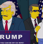 The Simpsons predicted in a 2000 episode that Donald Trump would become president. Picture: Supplied
