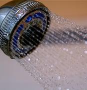 Shower Head Water Drops 7-26-09 1