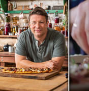 jamie oliver speedy sausage pizza grapes