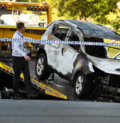 Car Fire Brisbane AAP Image Dan Peled NO ARCHIVING