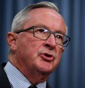 NSW Health Minister Brad Hazzard speaks to the media in Sydney, Thursday, February 27, 2020. (AAP Image/Joel Carrett) NO ARCHIVING