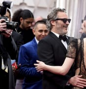 Joaquin Phoenix, left, and Rooney Mara arrive at the Oscars on Sunday, Feb. 9, 2020, at the Dolby Theatre in Los Angeles. (Photo by Jordan Strauss/Invision/AP)