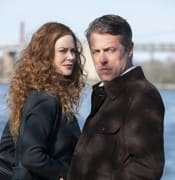 This image released by HBO shows Nicole Kidman, left, and Hugh Grant in a scene from