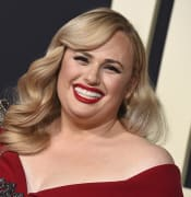 Rebel Wilson arrives at the Los Angeles premiere of